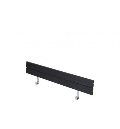 PLUS Ryglæn til Zigma Bord/Bænkesæt - 166 cm - Sort