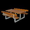 Plus Basic bord/bænkesæt med 2 ryglæn