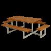 Plus Basic bord/bænkesæt med 2 påbygninger