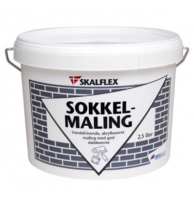 Skalflex Sokkelmaling 2,5 liter sort