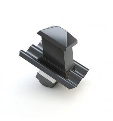 Cembrit taghætte B6 sort Incl. isorør
