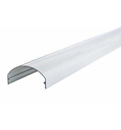 Hvid alu dækprofil 32,5 - 45 gr, 4000mm