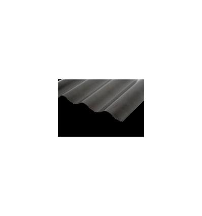Rias sort sinus pvc plade900x2000mm - 76/18mm