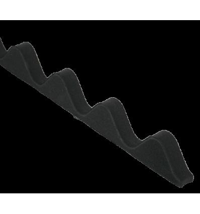 Rias sort sinus skumtætning 4stk. 900mm - 76/18mm