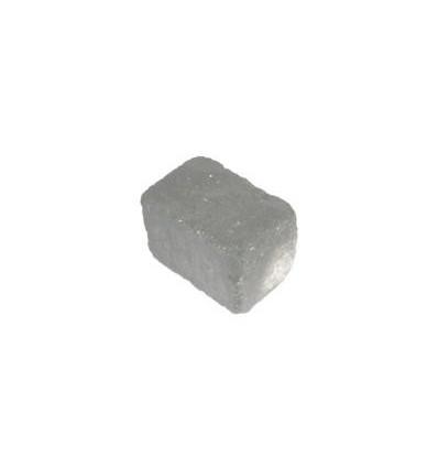"Herregårdsblok 14x14x21cm sort ""rumlet"""