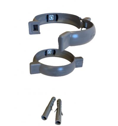Rørholder til Ø75 MM PVC GRÅ (2stk)