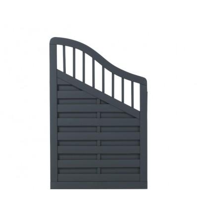 PLUS Rondo Skråelement - grundmalet antracit - 90x142/104 cm