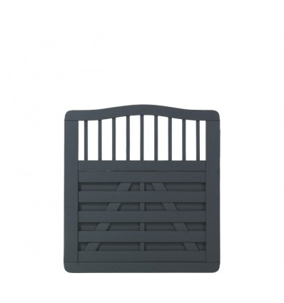 PLUS Rondo Enkeltlåge - grundmalet antracit - 100x104/107 cm