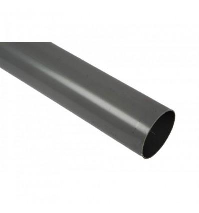 Nedløbsrør ø75mm - 2 meter grå
