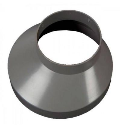 Brøndkrave ø75mm 130mm grå