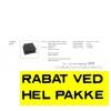 B6 tagplade 109x118cm sort - pr. pl. FRA