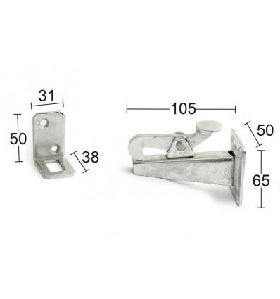 Habo gliphage maxi vægmontering varmeforzinket