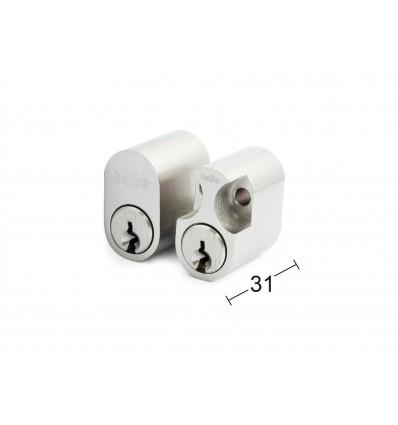 Habo cylinderlås 6-stiftet - 3 nøgler