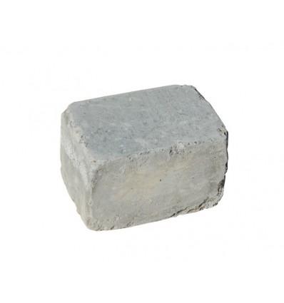 "Herregård bloksten GRÅ 14x14x21cm ""rumlet"""