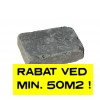 """Herregårdssten 5,5x14x21cm sort """"rumlet"""""""