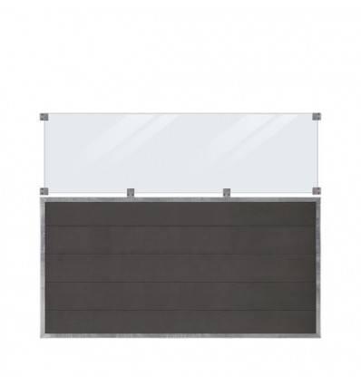Plus Futurahegn 180x145cm composit/skifergrå med glas
