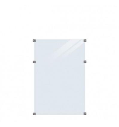 Plus glashegn klart glas 90x127cm