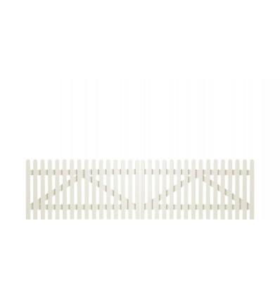 Plus Retro dobbeltlåge 300x80cm grundmalet hvid 2 gange