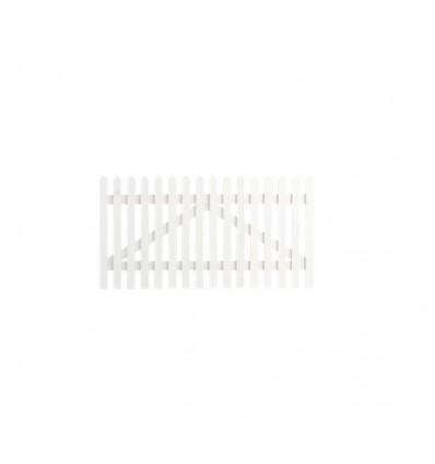 Plus Skagen Lux låge 150x80cm grundmalet hvid 2 gange
