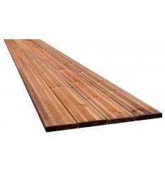 27x145mm terrassebrædder brunimprægneret NTR-AB fyr