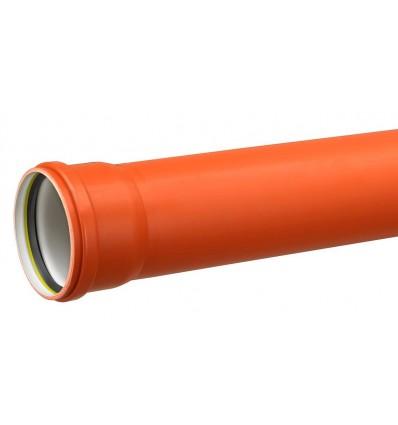 1,0 meter kloakrør 110 mm pvc