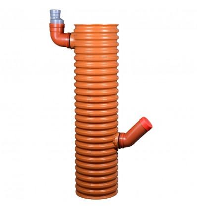Wavin 315 mm PVC-tagnedløbsbrønd med vandlås, fast top