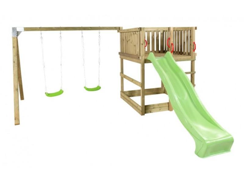Plus play legetårn incl gyngestativ og rutchebane