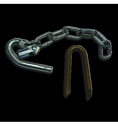 Lukketøj med kæde til jernlåger