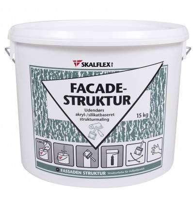 Skalflex fin facade-struktur, hvid