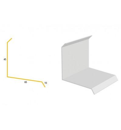 Bygtjek facadeinddækning 45x65x10x1000mm