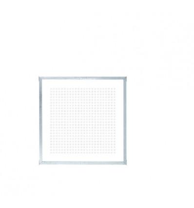 PLUS Hærdet Glashegn - m/Silketryk og runde stolper - 90x91 cm