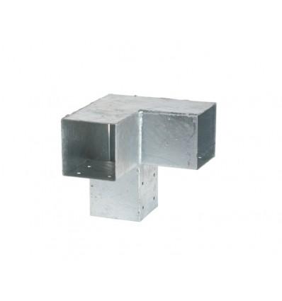 Plus Cubic hjørnebeslag dobbelt til 90mm stolpe