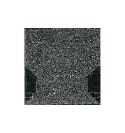 Isola tagfod/rygningsplade Sort ca.33x33cm